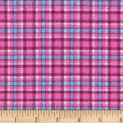 Marcus Primo Plaids Flannel Color Crush II Fuschia