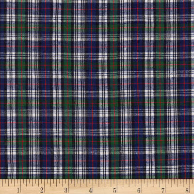 Classic Yarn-Dyed Tartan Plaid Mckenzie Navy/Green/White/Red