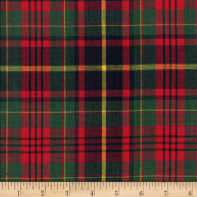Classic Yarn Dyed Tartan Plaid Red Green Yellow Discount