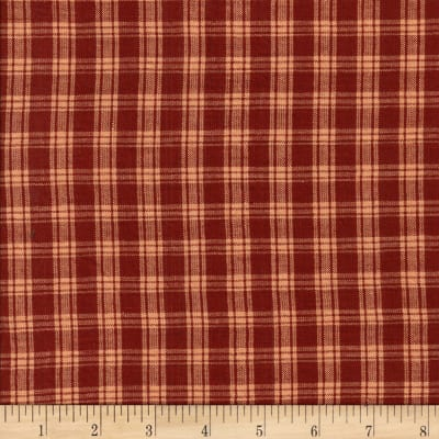 Rustic Woven Plaid Wine/Natural