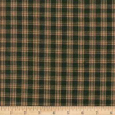 Rustic Woven Plaid Green/Natural