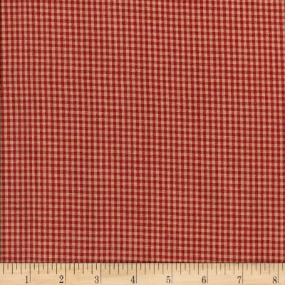 Rustic Woven Small Check Red