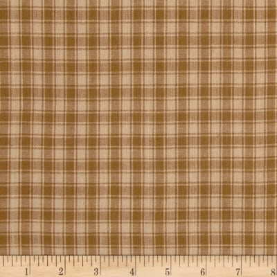 Rustic Woven Plaid Light Brown