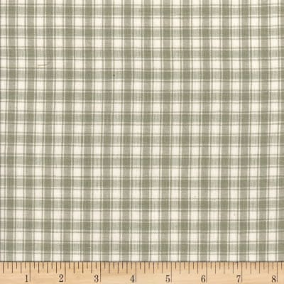 Rustic Woven Plaid Lt Grey/White