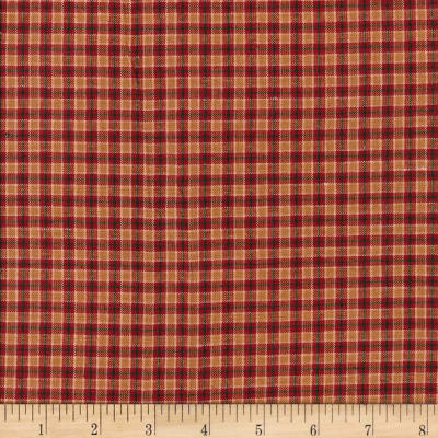 Rustic Woven Small Plaid Wine/Sand