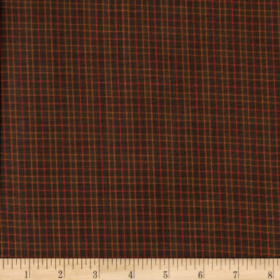 Rustic Woven Check Brown/Rust