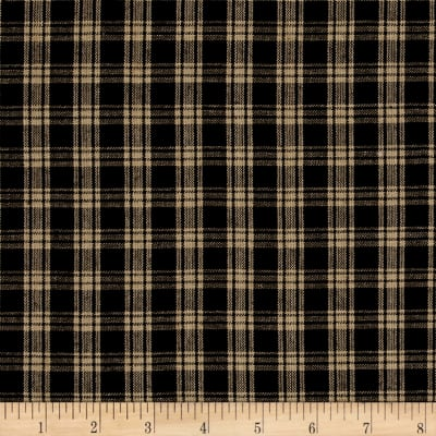 Rustic Woven Small Plaid Nat/Black