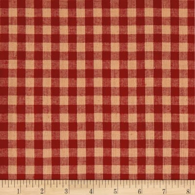 Rustic Woven 3/8 Check Red