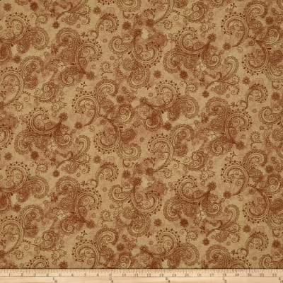 "QT Fabrics Avalon 108"" Wideback Decorative Filigree Tan"