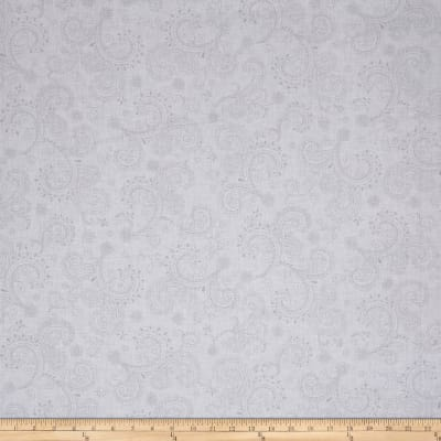 "QT Fabrics Avalon 108"" Wideback Decorative Filigree White"