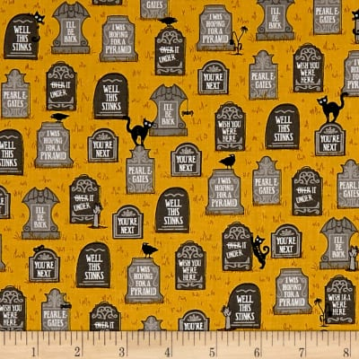 Ink & Arrow Boos & Ghouls Gravestones Gold