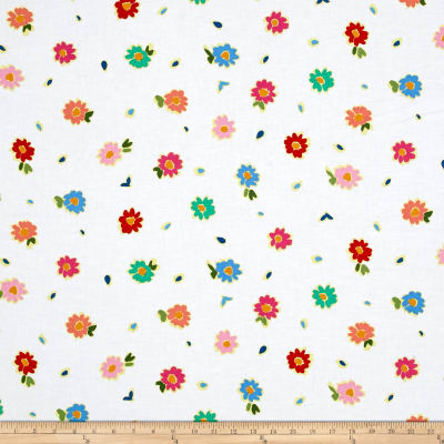 Ink & Arrow June Bee Penelope Tossed Floral White