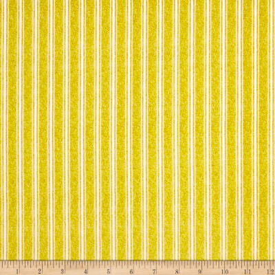QT Fabrics  Fowl Play Textured Ticking Stripe Yellow