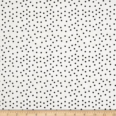 QT Fabrics  Fowl Play Feed Dot Off White