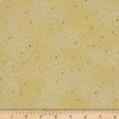 QT Fabrics Portofino Dainty Scroll Cream