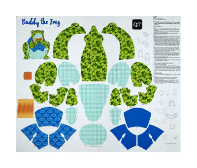 "Sew & Go Iii Buddy The Frog Stuffable 36"" Panel Multi"