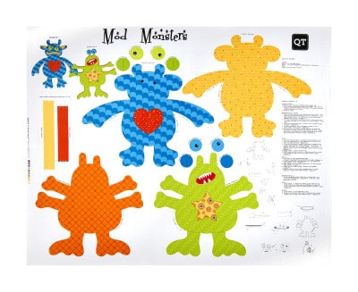 "QT Fabrics Sew & Go III Mod Monsters Stuffables 36"" Panel Multi"