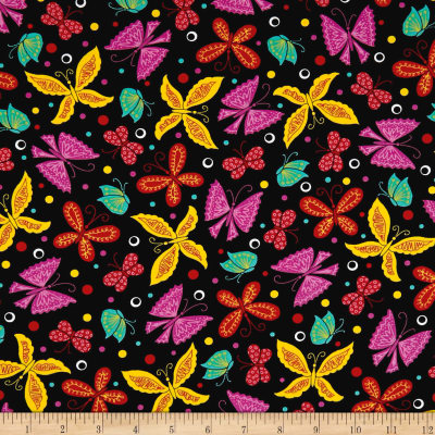 Ink & Arrow June Bee Tango Butterflies Black