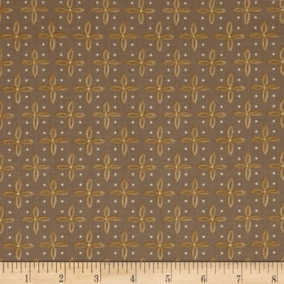 QT Fabrics Woodland Dream Star Foulard Medium Taupe