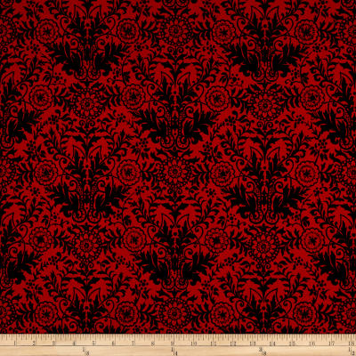 Ink & Arrow June Bee Esme Lyla Damask Red/Black
