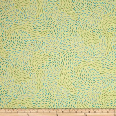 QT Fabrics  Little Squirt School Of Fish Lt. Yellow