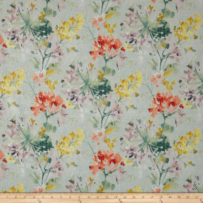 Swavelle/Mill Creek Dove Love Floral Barkcloth Celestial