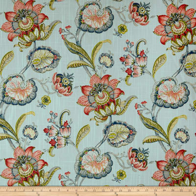 Swavelle/Mill Creek Pickett Robin's Floral Barkcloth Egg