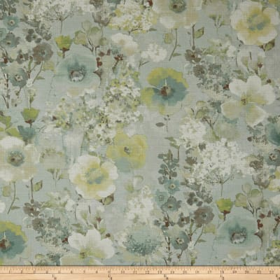 Swavelle/Mill Creek Beauhaven Floral Barkcloth Seaspray
