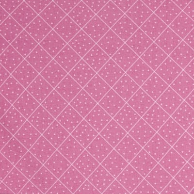 QT Fabrics  The Quilted Cottage Dotted Diamond Check Pink