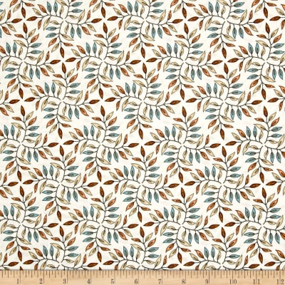 QT Fabrics Where The Wise Thing Leaf Geo Light Cream