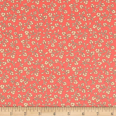 QT Fabrics Harlow Floral Spray Light Coral