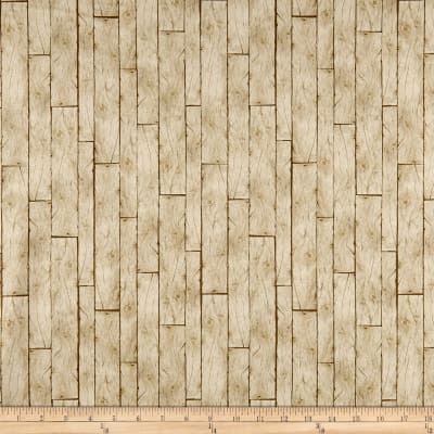 QT Fabrics Labrador Able Wood Planks Oatmeal