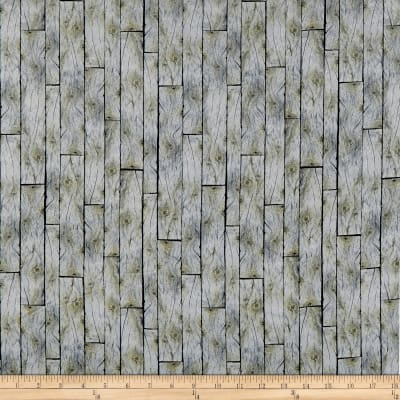 QT Fabrics Labrador Able Wood Planks Gray