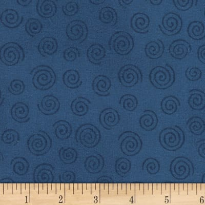 "Westrade 110"" Flannel Wide Backs  Swirls Denim"
