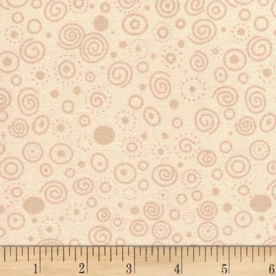 "Westrade 110"" Flannel Wide Backs Ditzy Beige"