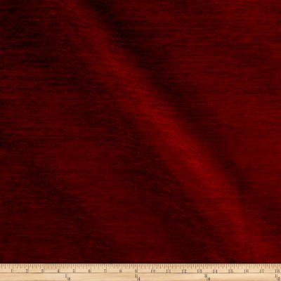 Backed Upholstery Chenille Solid Cinnabar