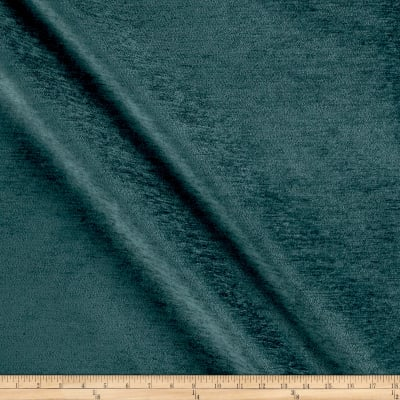 Backed Upholstery Chenille Solid Turquoise