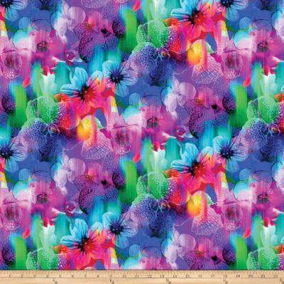 Strokes Of Brilliance Digital Floral Blue