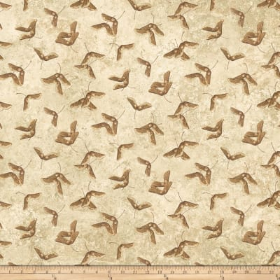 Stonehenge Maplewood Abstract Leaves Beige