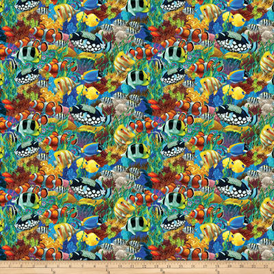 Coral Reef Digital School Of Fish Multi