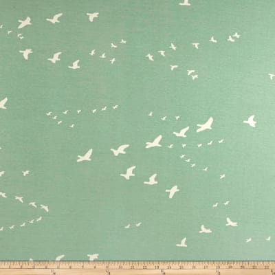 Birch Organic Basics Flight Interlock Knit Mint