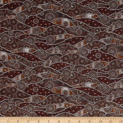 Down Under Aboriginal Waves Cocoa/Multi