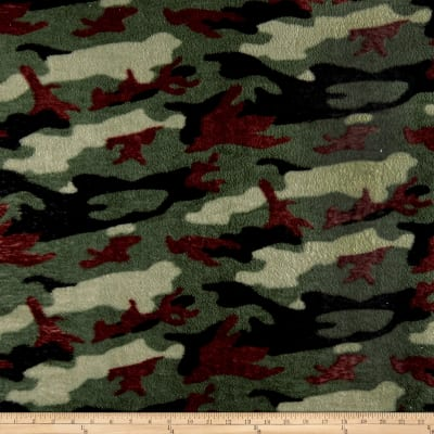 Whisper Plush Fleece Camouflage  Green
