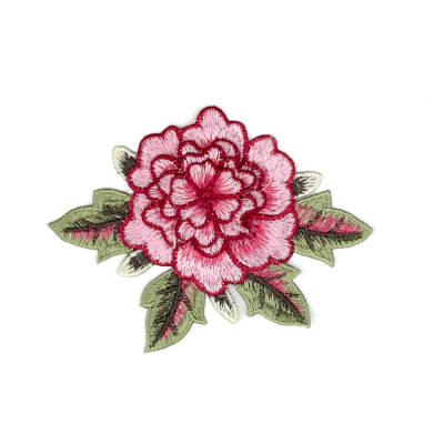 "Mina Layered Embroidered Flower Patch Applique 3"" x 5"""