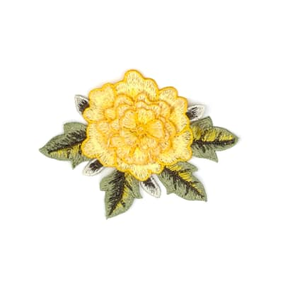 """Mina Layered Embroidered Flower Patch Applique 3"""" x 5"""""""