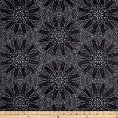 Contempo Meadow Dance Crochet Lace Grey