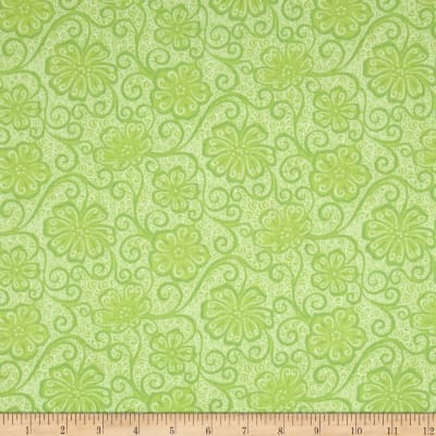 Contempo Meadow Dance Floral Blender Light Green