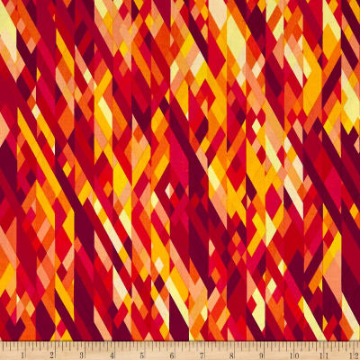Kanvas Sunburst Color Collage Orange