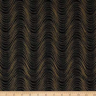 Kanvas Pansy Noir Wind Wave Black/Gold Metallic
