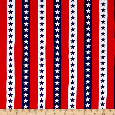 Kanvas Simply American Stars & Stripes Red